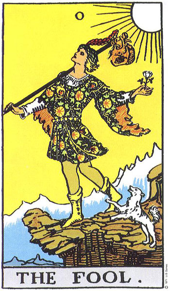 Fool From The Universal Waite Tarot: THE FOOL